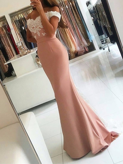 Ericdress Off The Shoulder Mermaid Evening Dress With Applique