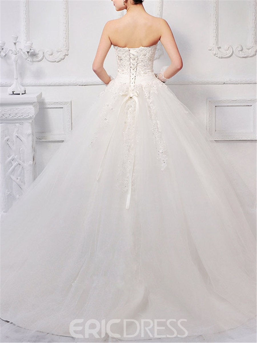 Timeless Ball Gown Sweetheart Neck Floor-length Wedding Dress