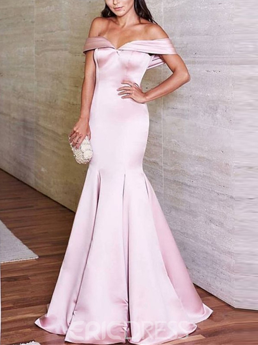 Ericdress Off The Shoulder Mermaid Evening Dress With Sweep Train