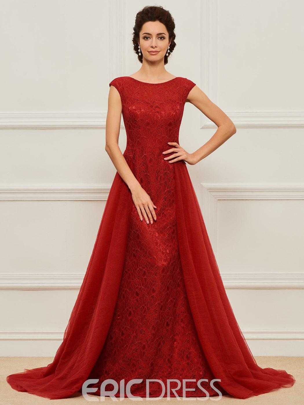 bed23945870 Ericdress Sheath Lace Long Mother of the Bride Dress 13136149 ...