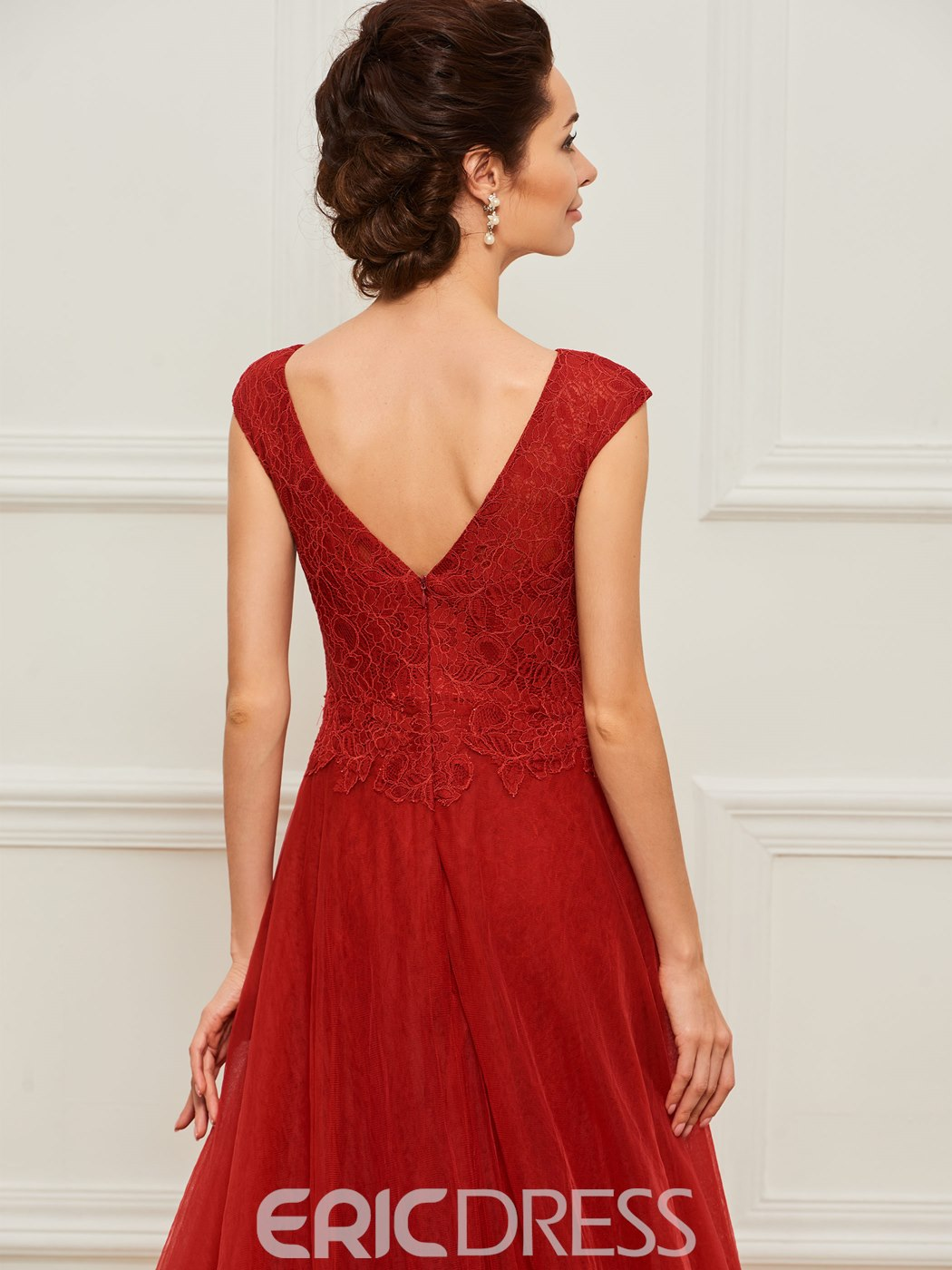 Ericdress Sheath Lace Mother of the Bride Dress with Train