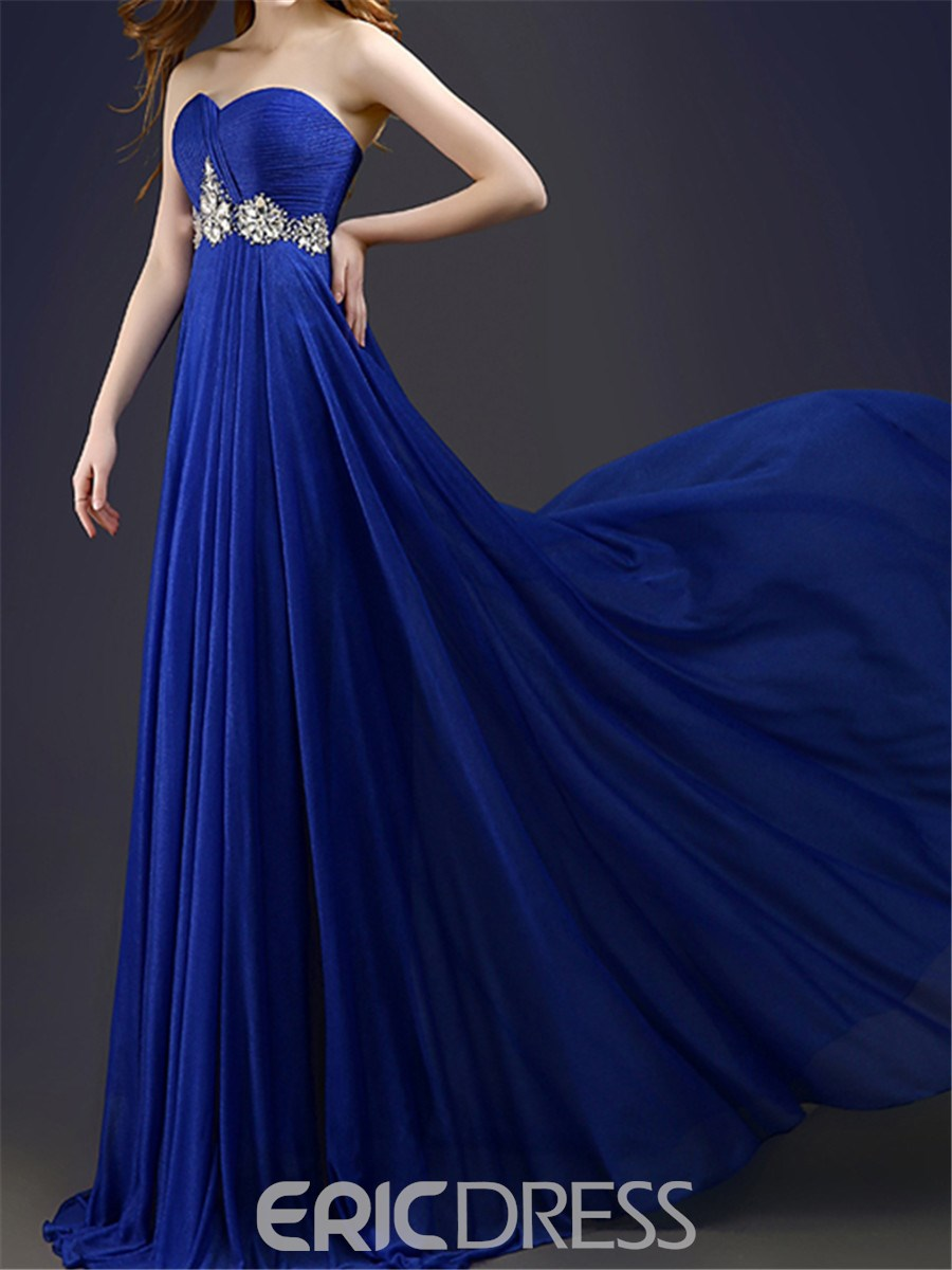 Ericdress A-Line Sweetheart Long Prom Dress With Beadings
