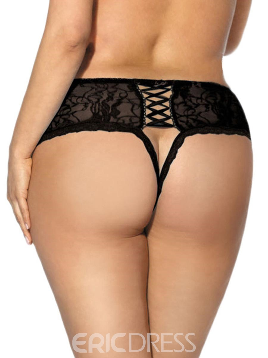 Ericdress Crotchless Lace Sexy Thong Panties