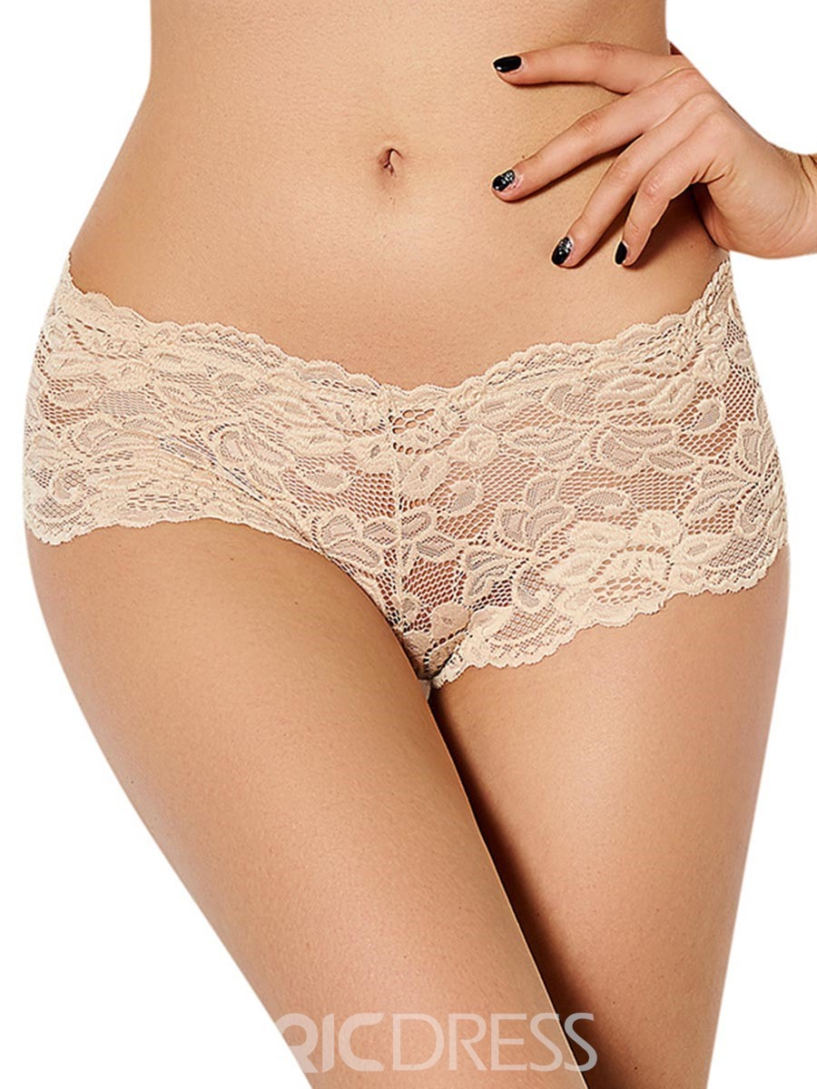 Ericdress See-Through Lace Plain Panty