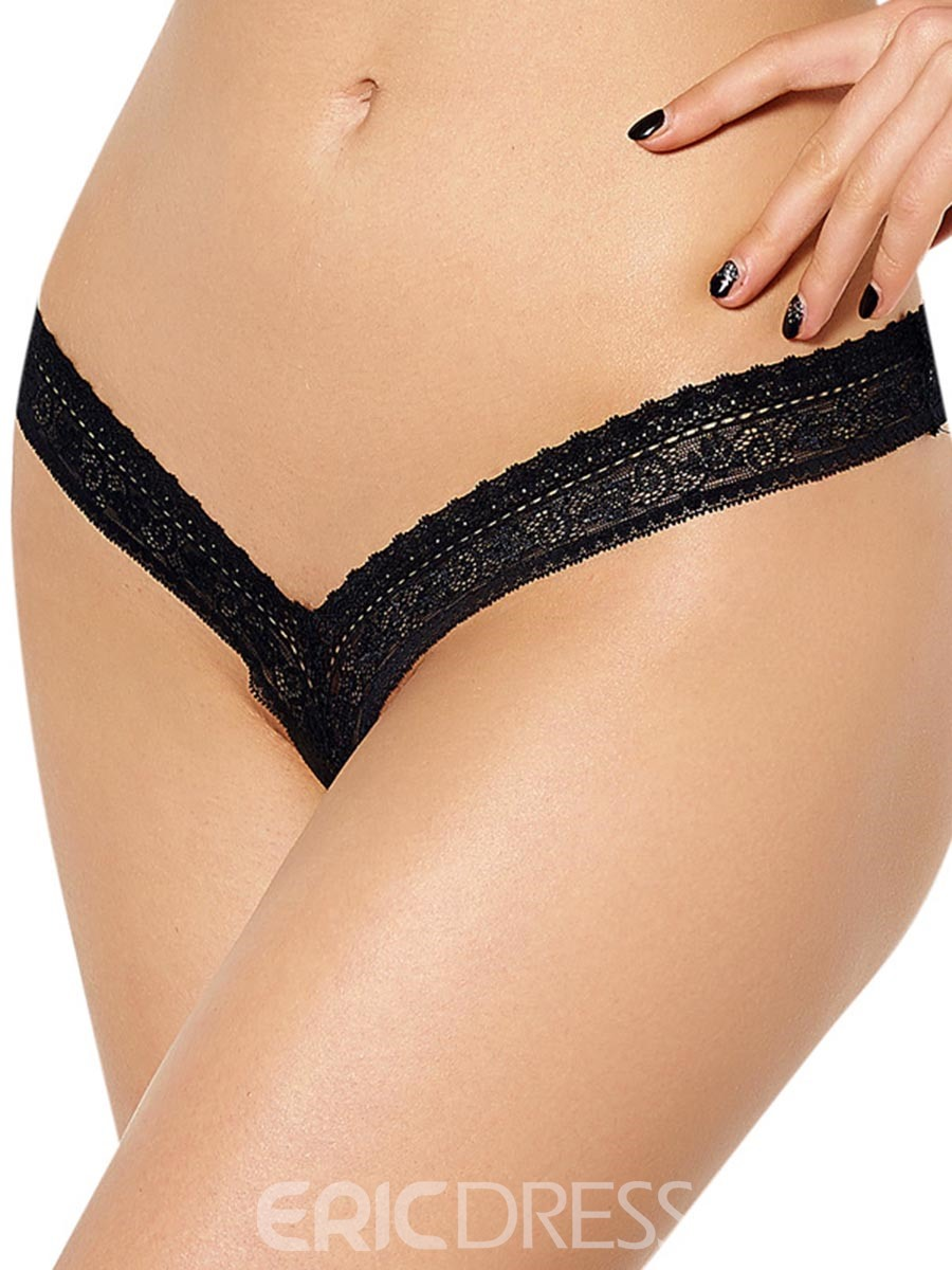 Ericdress Embroidery Low-Waist Sexy Thong