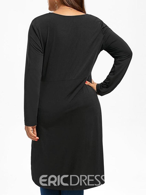 Ericdress Asymmetric Loose Plus Size T-Shirt