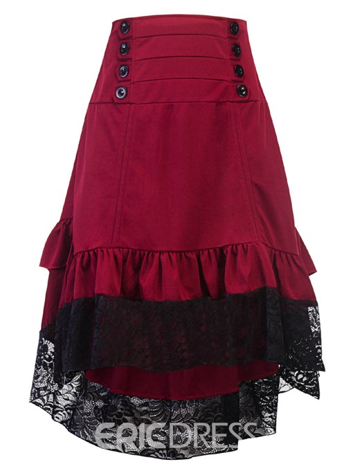 Ericdress Ruffles Lace Women's Skirt