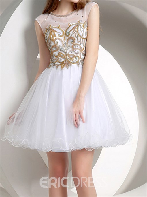 Ericdress Shiny A-Line Short/Mini Length Junior Prom Dress