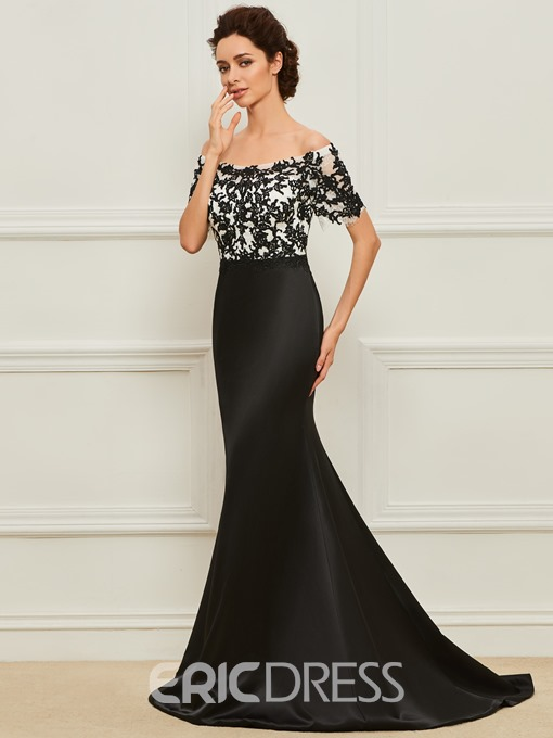 Ericdress Off the Shoulder Appliques Mermaid Mother of the Bride Dress