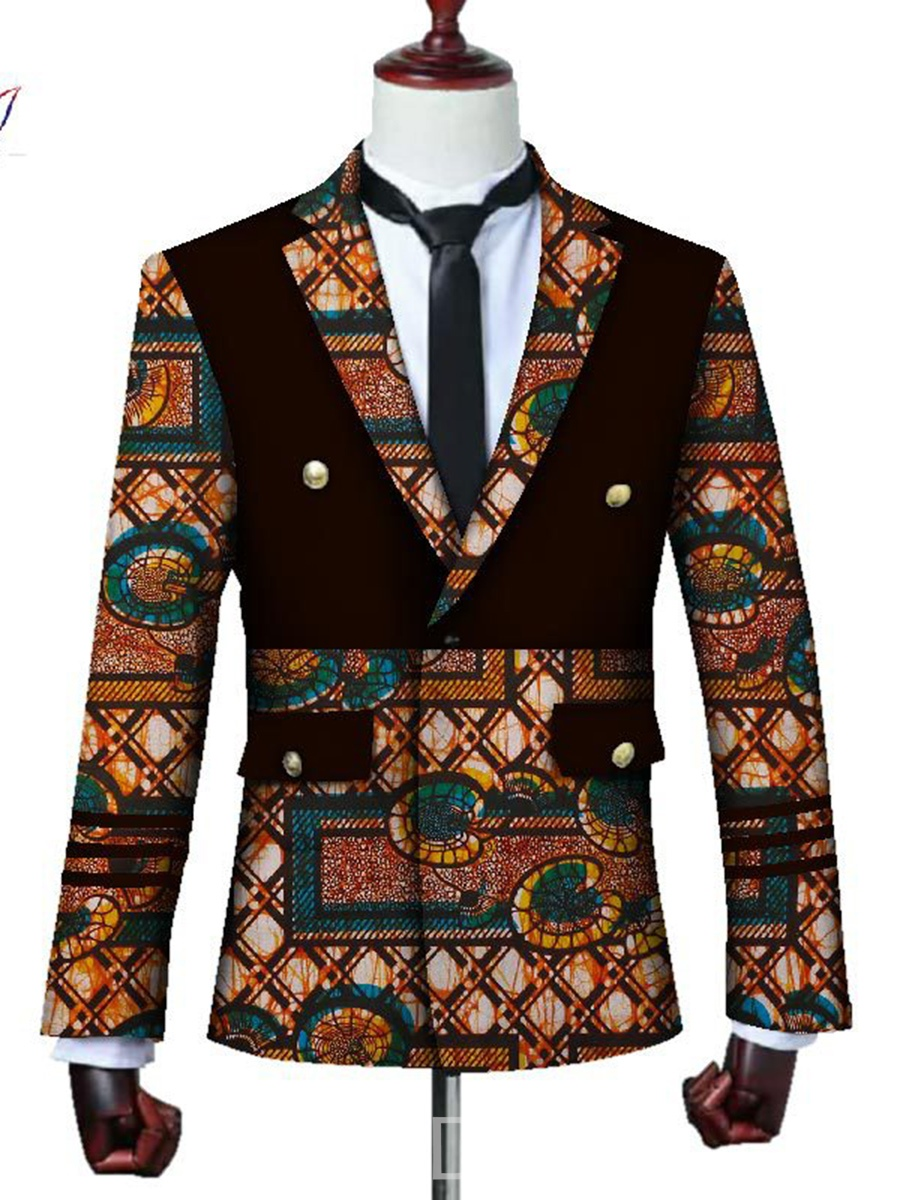 Ericdress Patchwork Lapel Ethnic Men's Blazer