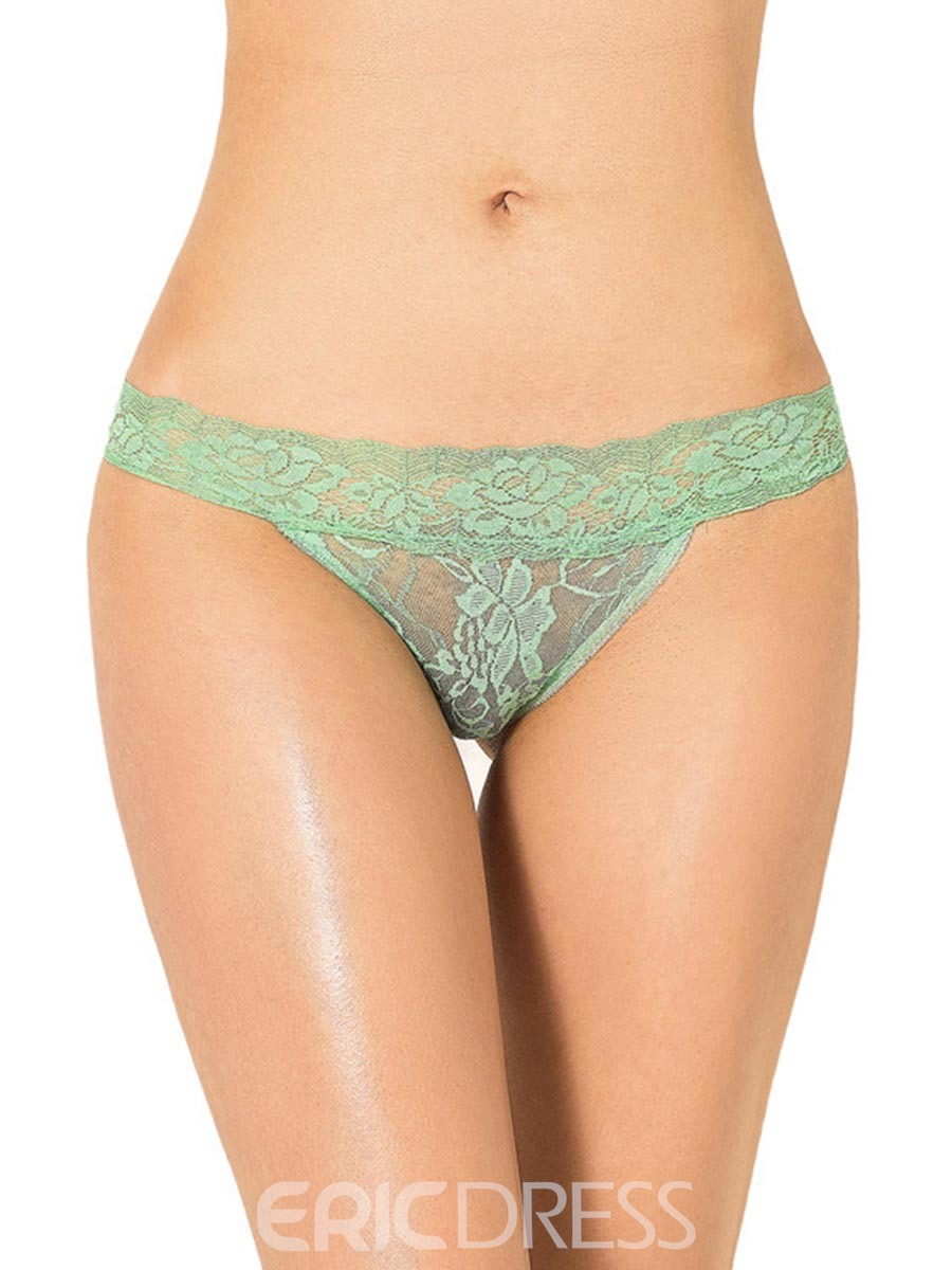 Ericdress Low-Waist See-Through Lace Panty