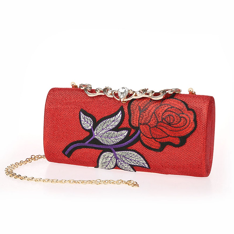 Ericdress Floral Pattern Chain Crossbody Bag