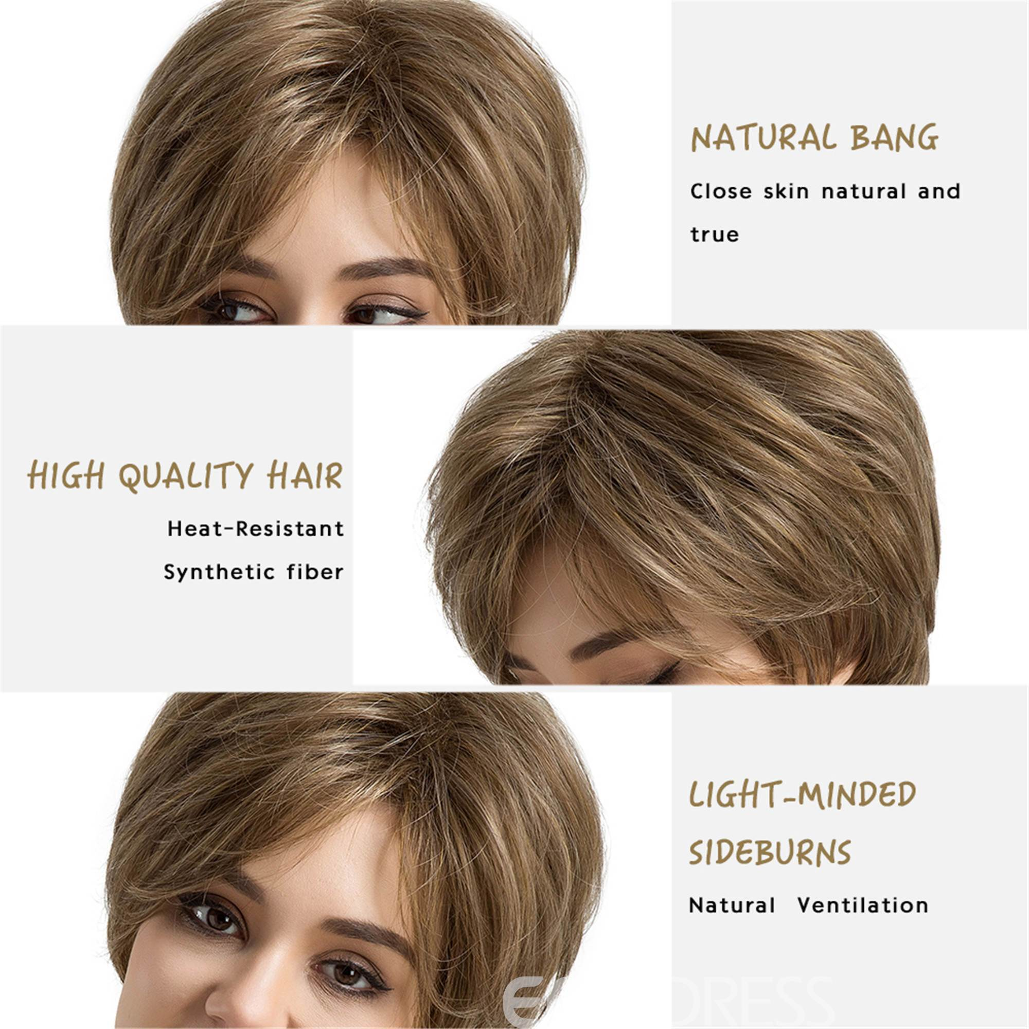 Fringe Short Hair Synthetic Capless Wigs For Women 10 inches