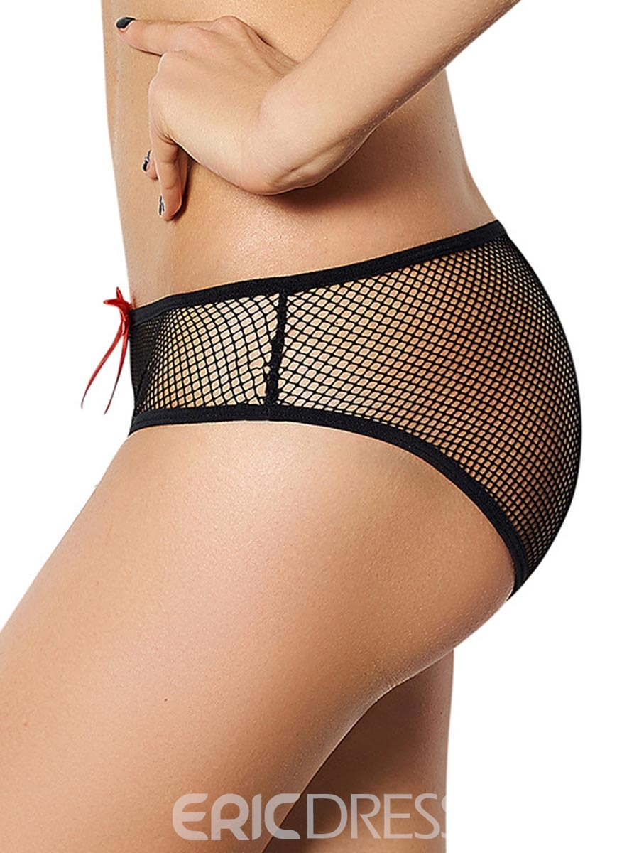 Ericdress Mesh See-Through Bowknot Panty