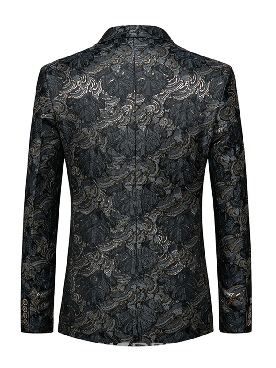 Ericdress Notched Lapel jacquard Men's Blazer