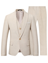 Ericdress Slim Fit Notch Lapel One Button Tuxedo Blazer Jacket Pants & Vest 3 Piece Mens Suit