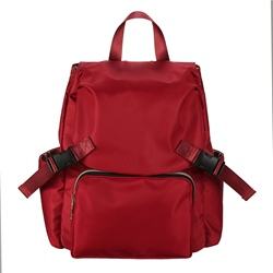 Ericdress Solid Color Unisex Zipper Backpack