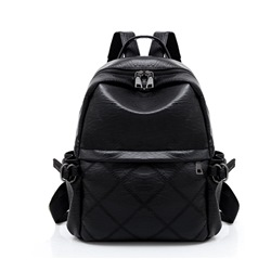 Ericdress Solid Color PU Women Backpack