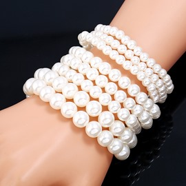 Ericdress Fully-Jewelled Imitation Pearl Bracelet