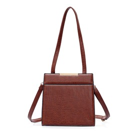 Ericdress Plain PU Women Shoulder Bag