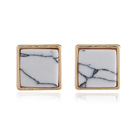 Ericdress Creative Square Stud Earring