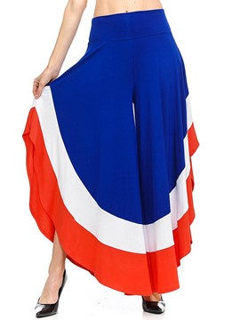 Ericdress Loose Color Block Women's Pants