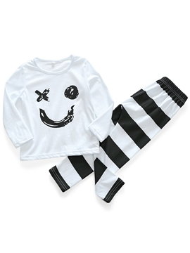 EricdressLetter Cartoon Print Unisex Baby Girls' Outfit