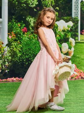 Ericdress Beading Asymmetry Flower Girl Dress