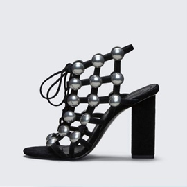 Ericdress Strappy Beads Decorated Plain Chunky Sandals