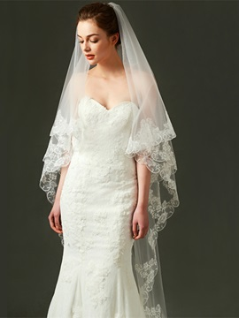 Ericdress Tulle Appliques Long Wedding Veil