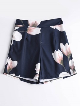 Ericdress Floral Print Women's Shorts