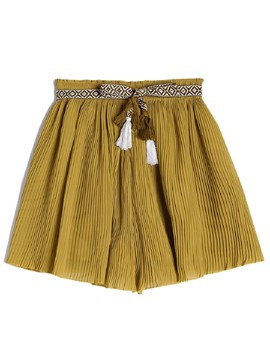 Ericdress Loose Pleated Chiffon Women's Shorts