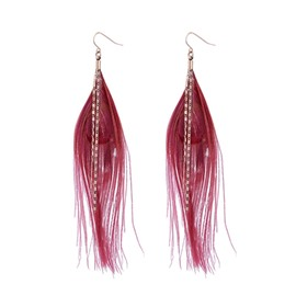 Ericdress Feather Tassel Drop Earring