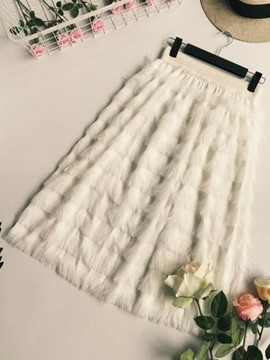 Ericdress Feather Tassels Women's Skirt