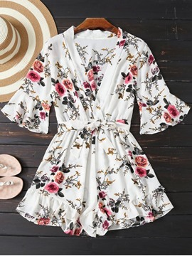 Ericdress Loose Floral Women's Playsuit