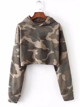 Ericdress Camouflage Short Cool Hoodie