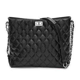 Ericdress Quilted Lining Plain Shoulder Body Bag
