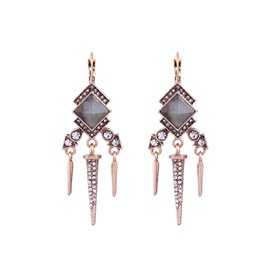Ericdress Tassel Diamante Earring