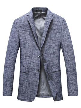 Ericdress Plaid Single Breasted Men's Casual Coat Jacket