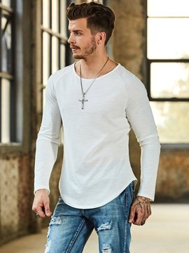 Ericdress Plain Men's Casual Loose Shirt