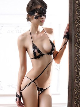 Ericdress Bra Set with Eye patch Handcuffs