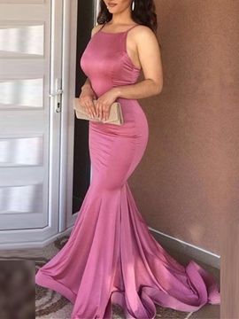 Ericdress Sleeveless Spaghetti Straps Mermaid Celebrity Dress 2019
