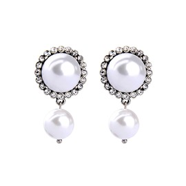 Ericdress Imitation Pearl Diamante Earring for Women
