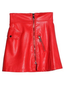 Ericdress PU Zipper Women's Mini Skirt