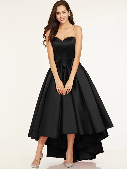 Ericdress A-Line Sweetheart Pleats Asymmetry Evening Dress
