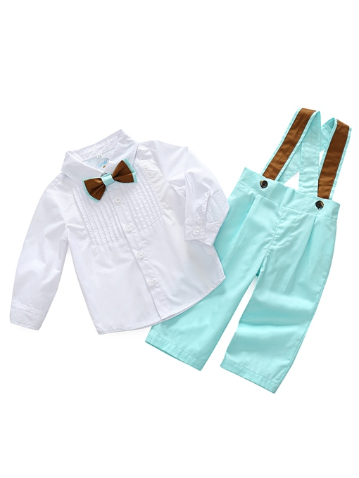 Ericdress Bowknot Shirt & Overalls Baby Boys' Outfit