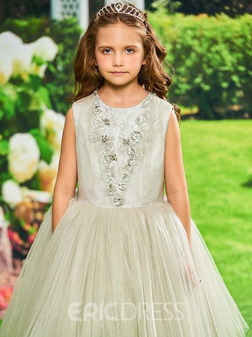 Ericdress Ball Gown Tea Length Flower Girl Party Dress