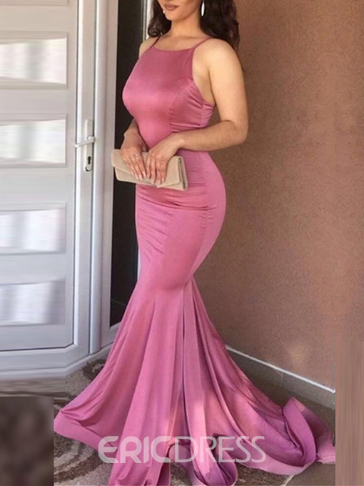 Ericdress Sleeveless Spaghetti Straps Mermaid Celebrity Dress