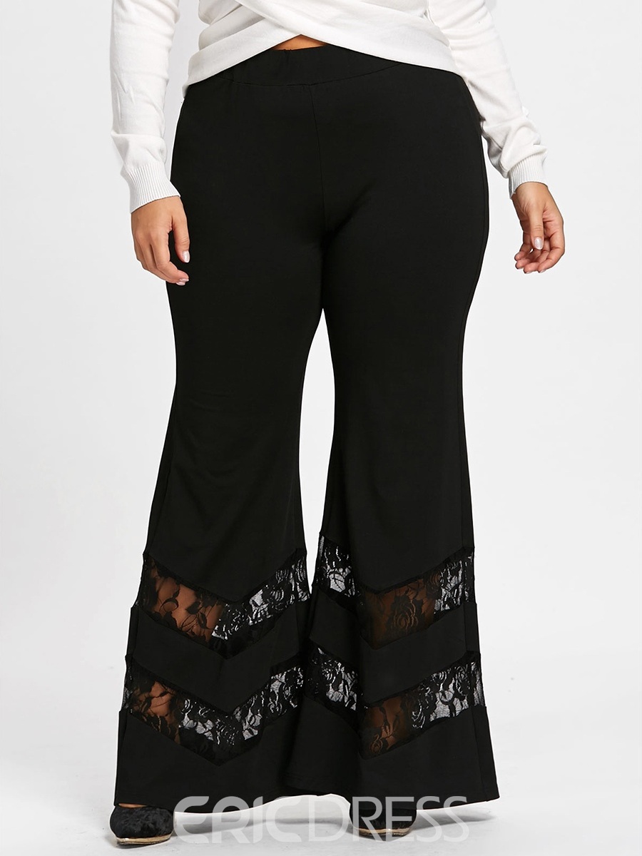 Ericdress Lace Patchwork Women's Pants