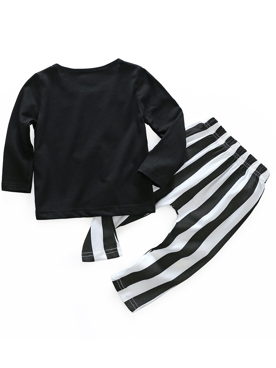 Ericdress Smile Face Stripe Pants Baby Girls' Outfit